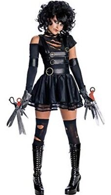 Miss Edward Scissorhands Gothic Halloween Dress Up Costume - Size 8-10