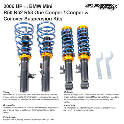 BMW Mini R50 R52 R53 One Cooper S Adjustable Coilovers Suspension Kits