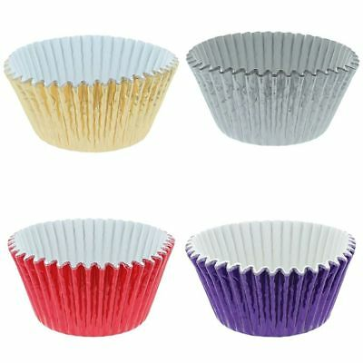 Foil Cupcake Bun Cases Choice Of Colours High Quality Paper Muffin Cake Case