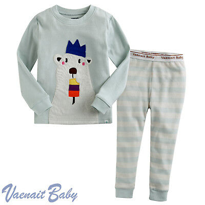 "Vaenait Baby Pjs Kids Girls Boys Sleepwear Pajama ""Crown Bear"" XS(12-24M)"