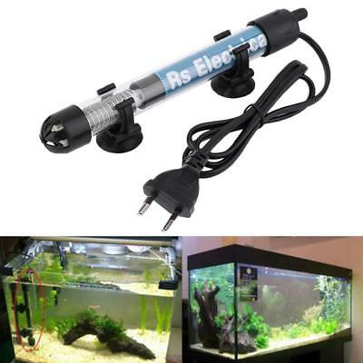 AU 25W 50W 100W 200W 300W Submersible Aquarium Fish Tank Heater Temp Adjustable