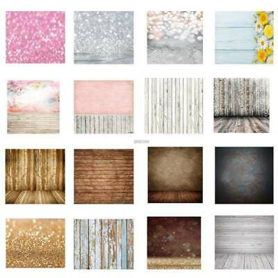 3x5ft 5x7ft Wood Flower Backdrops Kids Baby Studio Props Photo Floral Background