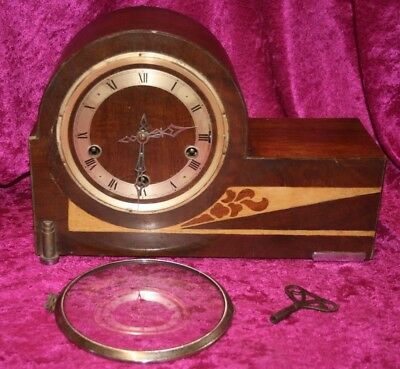 Art Deco Westminster Chime Mantle Clock, Restoration Or Spares & Repairs