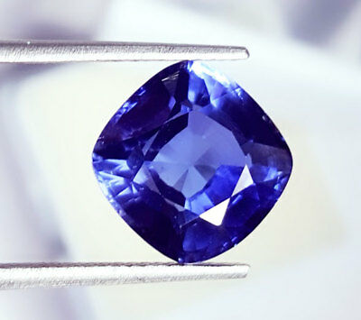 Natural Blue Sapphire 9.37 Ct Loose Gemstone Certified Cushion Shape