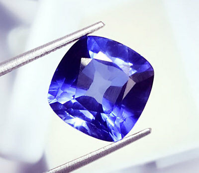 Natural Blue Sapphire  Loose Gemstone Certified Cushion Shape 11.37 Ct