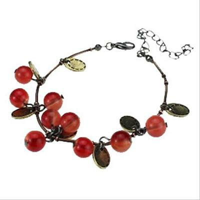 Bangle Fashion Cherry Vintage Tabasco Bronze Hot Retro Sweet Bracelet Alloy