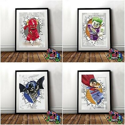 Lego Superhero Posters A4 A3 Lego Batman Movie (VARIOUS DESIGNS)