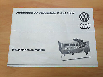 Manual Operation Verificador de encendio VAG 1367