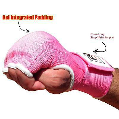 Boxing Inner Quick Hand Wraps Fist Gel Bandages MMA Gloves Straps Pink