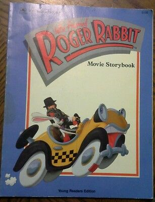 1988 Who Framed Roger Rabbit Storybook J Korman movie by Walt Disney & Spielberg