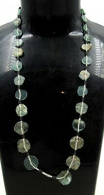 Authentic Ancient Roman Era Glass Beaded Necklace - J125