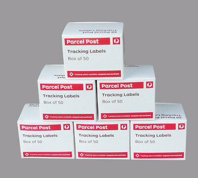 300 AUSTRALIA POST TRACKING LABELS For Domestic Parcels - (6 Boxes)