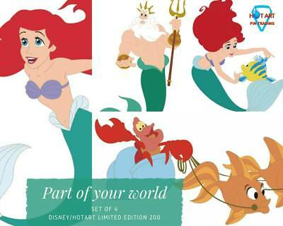 NEW Disney HotArt  PART OF YOUR LIFE LE200 4 Pin Set LITTLE MERMAID Ariel