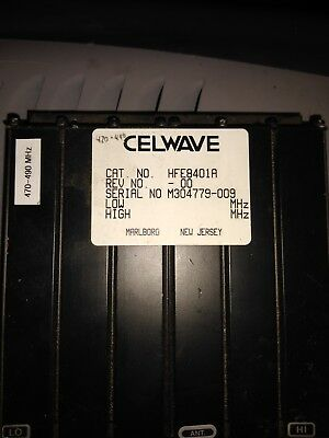 Celwave HFE8401A duplexer tuned to 420-440Mhz