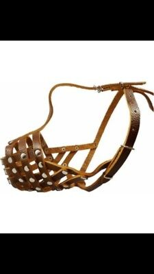 Brown leather Dog Muzzle