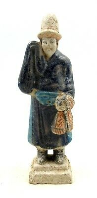 Authentic Ancient Chinese Ming Dynasty Terracotta Attendant Figurine - L104