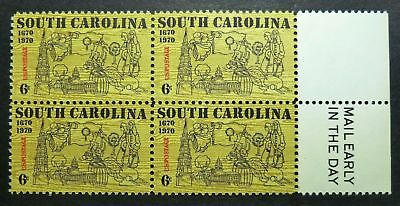 1407 MNH 1970 6c South Carolina ME B4 Charleston Saint St Phillip Fort Ft Sumter