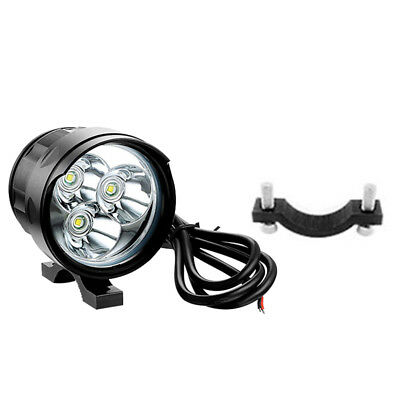 30W LED Motorcycle Bicycle Spot Driving Headlight Fog Lamp Work Light W/ Base