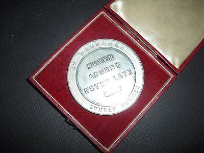 St. Barnabas Sunday School Attendance Boxed 1906 Medal