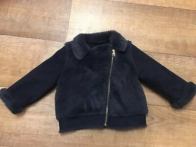 Baby Girl F&F Navy Jacket Size 12-18 Months
