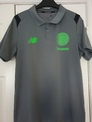 New Balance Celtic Polo Shirt Grey Small