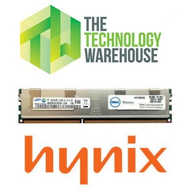 DELL 8GB DDR3 ECC SERVER MEMORY RAM - SNPX3R5MC/8G - 2Rx4 PC3-10600R - HYNIX