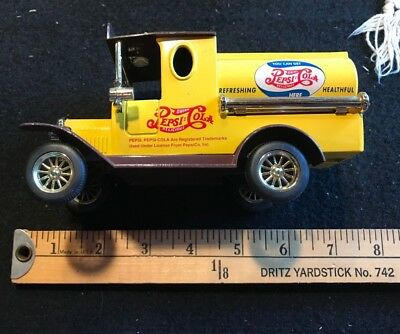 Vintage Golden Wheel Pepsi Cola Delivery Truck Yellow Die Cast