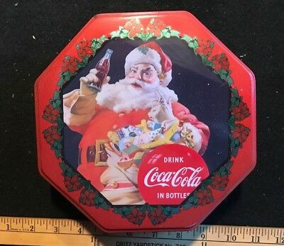 Coca-Cola and Pepsi Christmas Tins and Coca-Cola Serving Tin