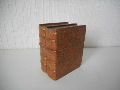 Vintage G.T. Co LTD Leather Double Book Design Playing Cards Case - French?