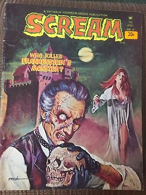 Scream Comic By skywald No 6 1974