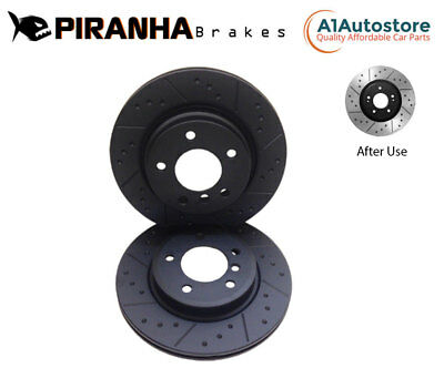 FRONT DIMPLED GROOVED BRAKE DISCS FOR AUDI A4 A5 S4 S6 A7 Q5 TFSi TD 2007- 345mm