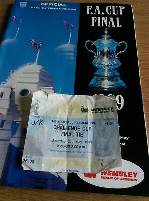F A Cup Final 1989 programme and ticket