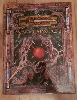 Dungeons & Dragons Monster Manual II Hardback Supplement First Edition Rare