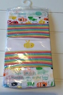Tiny Baby NEW Rainbow Stripe Set Of 5 Short Sleeve Body Suits Miniclub Up To 5lb