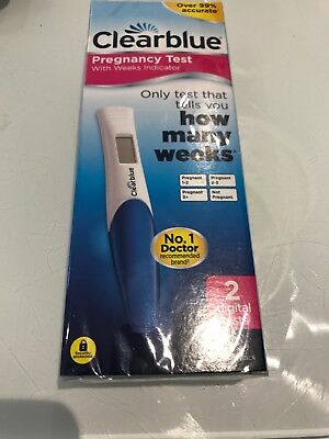 NEW Clearblue Digital Pregnancy How Many Weeks Indicator 99% Accurate - 2 Tests