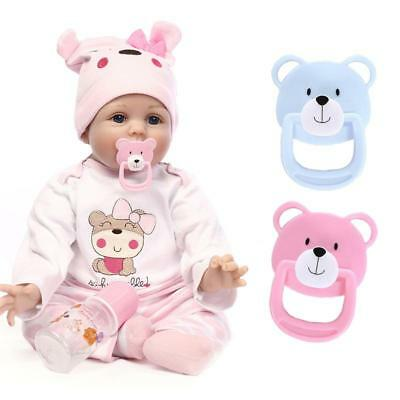 2 Colors Magnetic Pacifier Soother Dummy For Reborn Baby Dolls Internal Magnet
