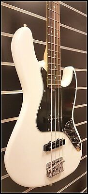 Fender American Performer Jazz Bass Rw Arctic White*greasebucket Tone System*