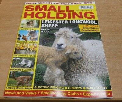 SmallHolding magazine Feb/Mar '19 Leicester Longwool Sheep +Bees Castrating Goat