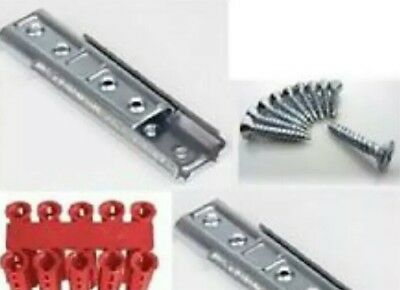 Headboard Wall mount fixing Sliding Bracket clips Heavy Duty Concealed & fitting