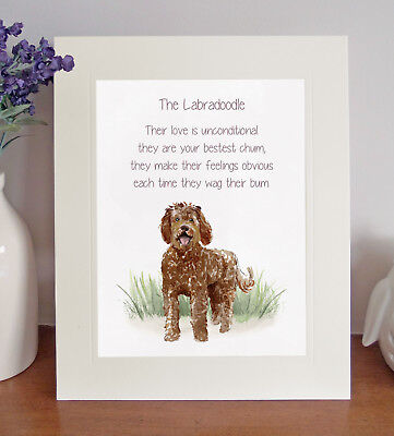 Labradoodle (Brown) BESTEST CHUM Novelty Poem 8 x 10 Picture/10x8 Print Fun Gift