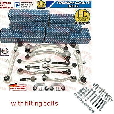 For Audi A6 Allroad 4BH C5 Front Suspension upper lower wishbones arms kit bolts