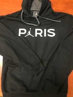 32a80f071ba JORDAN JUMPMAN PARIS SAINT GERMAIN PSG Pullover Hoodie Sweatshirt Black  SM-2XL