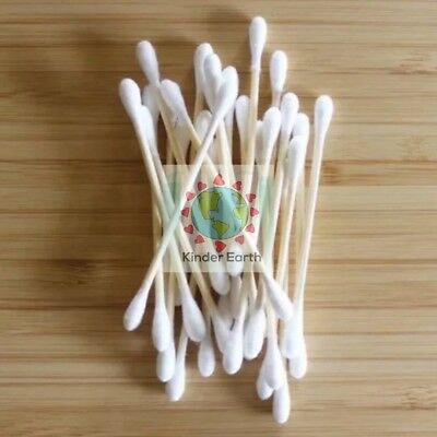 Cotton Ear Buds - Bamboo + Cotton - 100% Biodegradable - Plastic Free