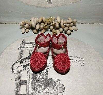 """Beautiful  leather shoes for French and Germany doll 2 - 1/4"""" (57 mm)"""