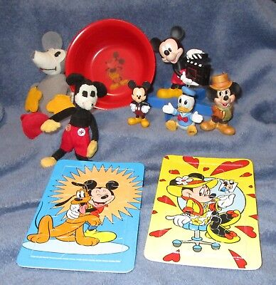 Vintage Collection Mickey Mouse Items plus Donald & Minnie