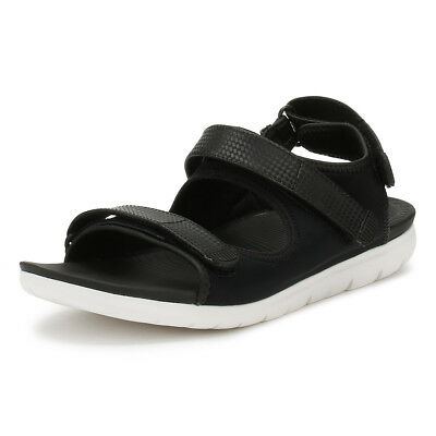 ef41931acde9d FitFlop Womens Black Mix Neoflex Back Strap Sandals Ladies Summer Casual  Shoes