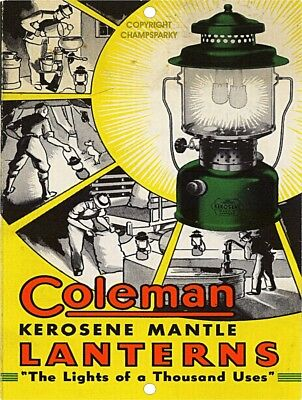 "COLEMAN Kerosene Mantle Lanterns 9"" x 12"" Sign"