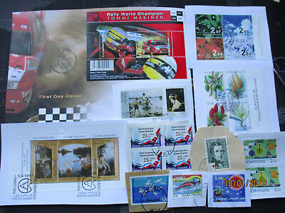 Finland - kiloware on paper,BOX-100- MOSTLY LARGE before Euro (read description)