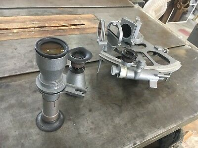 Vintage 1977 Russian CHO-T Sextant with Wooden Box, Ship Boat Yacht Navigation