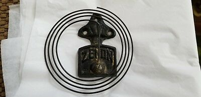 One Zenon Cast Iron Clock Gong Chime Wall Clocks for Parts or Repair